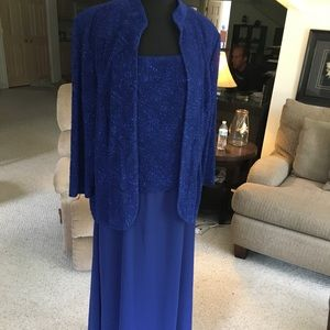Alex Evenings (NWT) royal blue 2 piece gown/jacket